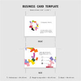 Abstract Creative Business Cards Design Template, Size 90mmx55mm Royalty Free Stock Photos