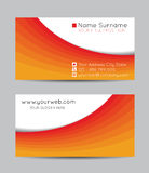 Abstract creative business cards, vector Royalty Free Stock Image