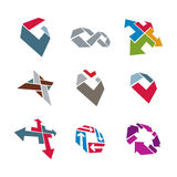 Abstract creative business icons vector collection, abstract sty Royalty Free Stock Photos
