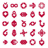 Abstract creative business icons vector collection, abstract sty Stock Photos