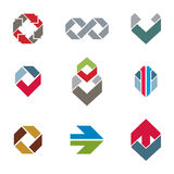 Abstract creative business icons vector collection, abstract sty Royalty Free Stock Images