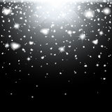 Abstract creative christmas falling snow  on background. Vector illustration clipart art for Xmas holiday Royalty Free Stock Images