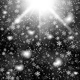 Abstract creative christmas falling snow  on background. Vector illustration clipart art for Xmas holiday Stock Photo