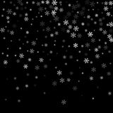 Abstract creative christmas falling snow  on background. Vector illustration clipart art for Xmas holiday Royalty Free Stock Photos