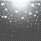 Abstract creative christmas falling snow  on background. Vector illustration clipart art for Xmas holiday Stock Photography