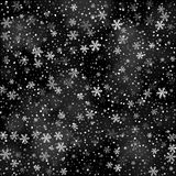 Abstract creative christmas falling snow  on background. Vector illustration clipart art for Xmas holiday Royalty Free Stock Photo
