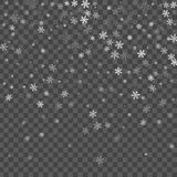 Abstract creative christmas falling snow isolated on background. Vector illustration clipart art for Xmas holiday. Decoration. Concept idea design element Royalty Free Stock Image