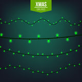 Abstract creative christmas garland light isolated on background. template. Vector illustration clipart art for Xmas Stock Images