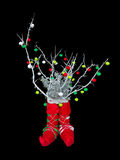 Abstract creative Christmas tree isolated over black background Stock Photography