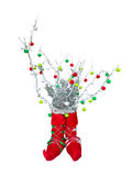Abstract creative Christmas tree isolated over white background Royalty Free Stock Photography