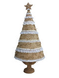 Abstract creative Christmas tree isolated over white background Royalty Free Stock Photo