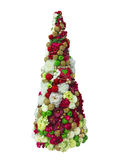 Abstract creative Christmas tree isolated over white background Stock Image