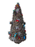 Abstract creative Christmas tree made from cones isolated over w Royalty Free Stock Image