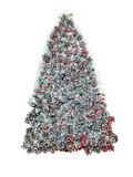 Abstract creative Christmas tree made from cones isolated over w. Hite background Royalty Free Stock Photos