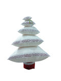 Abstract creative Christmas tree made from cushions isolated ove Royalty Free Stock Images