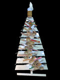 Abstract creative Christmas tree wooden spoon isolated over blac Stock Photography