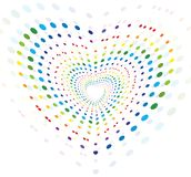 Abstract creative circle Colorful dotes Stock Images