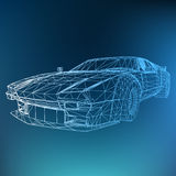 Abstract Creative concept  background of 3d car model. Sports car. Royalty Free Stock Photo