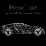 Abstract Creative concept  background of 3d car model. Sports car. Stock Photo