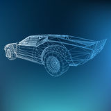 Abstract Creative concept  background of 3d car model. Sports car. Royalty Free Stock Photos