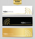 Abstract creative concept gold vector background for web app, illustration template design, business infographic, page Royalty Free Stock Images