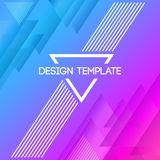 Abstract creative concept layout template royalty free illustration