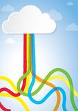Abstract Creative Concept for Story book, Internet, Cloud Computing, Creativity and Business Stock Photos