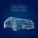Abstract Creative concept vector background of 3d car model. Sports car. Abstract Creative concept vector background of 3d car model. Sports car Royalty Free Stock Images