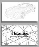 Abstract Creative concept vector background of 3d. Car model. Sports car. Polygonal design style letterhead and brochure for business Royalty Free Stock Images