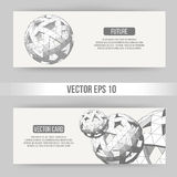 Abstract Creative concept vector background of geometric shapes. Polygonal design style letterhead and brochure for Royalty Free Stock Images
