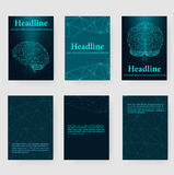 Abstract Creative concept vector background of the human brain. Polygonal design style letterhead and brochure for Royalty Free Stock Photos