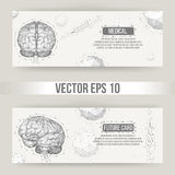 Abstract Creative concept vector background of the human brain. Polygonal design style letterhead and brochure for Royalty Free Stock Image