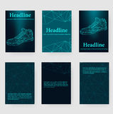 Abstract Creative concept vector background of the sneakers. Polygonal design style letterhead and brochure for business Royalty Free Stock Image