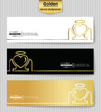 Abstract Creative concept vector background for Web and Mobile Applications, Illustration template design, business. Abstract Creative concept gold vector Stock Photography