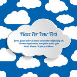 Abstract Creative concept vector clouds collection on a blue bac Royalty Free Stock Photo