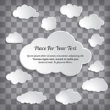 Abstract Creative concept vector clouds collection on chequere Royalty Free Stock Image
