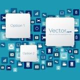 Abstract Creative concept vector empty speech bubbles. Royalty Free Stock Photos