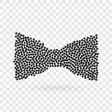 Abstract creative concept vector icon of bowtie for web and mobile app isolated on background. Art illustration template Royalty Free Stock Images