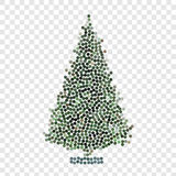 Abstract creative concept vector icon of christmas tree for web and mobile app isolated on background. Art illustration Stock Photo