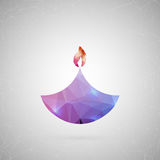 Abstract creative concept vector icon of diwali candle. For web and mobile content  on background, unusual. Abstract creative concept vector icon of diwali Stock Photography