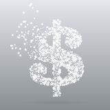 Abstract creative concept vector icon of dollar Stock Images