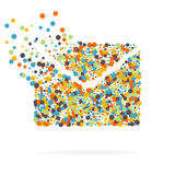 Abstract Creative concept vector icon of envelope for Web and Mobile Applications isolated on white background. Art Royalty Free Stock Photo