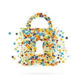 Abstract creative concept vector icon of padlock for Web and Mobile Applications. Art illustration creative template Royalty Free Stock Photos