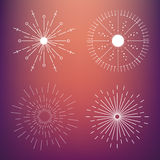 Abstract Creative concept vector icon of sunbursts for Web and Mobile Applications isolated on background. Vector Stock Images