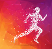 Abstract Creative concept vector image of running man for Web and Mobile Applications on background, art vector illustration