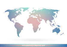 Abstract creative concept vector map of the world for Web and Mobile Applications isolated on background. Vector royalty free illustration