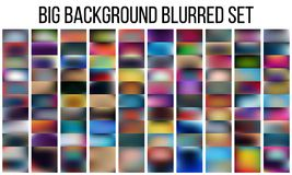 Abstract Creative concept vector multicolored blurred background set. For Web and Mobile Applications, art illustration Royalty Free Stock Photo