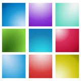 Abstract Creative concept vector multicolored blurred background set. For Web and Mobile Applications vector illustration