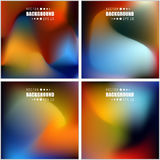 Abstract Creative concept vector multicolored blurred background set. Royalty Free Stock Images
