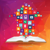 Abstract creative concept vector siluet hands of icons. For web and mobile applications  on background Stock Photography